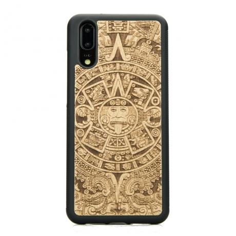 Drewniane Etui Huawei P20 KALENDARZ AZTECKI ANIEGRE