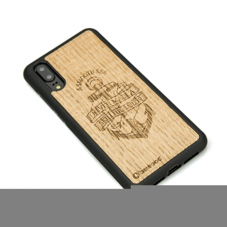 Drewniane Etui Huawei P20 KOTWICA DĄB