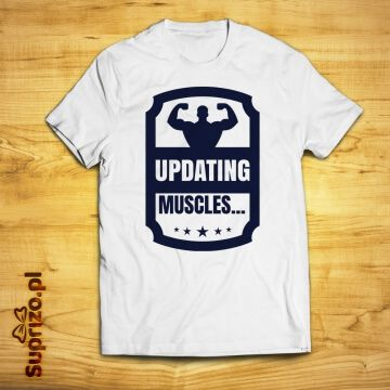 Koszulka dla kulturysty ze śmiesznym napisem