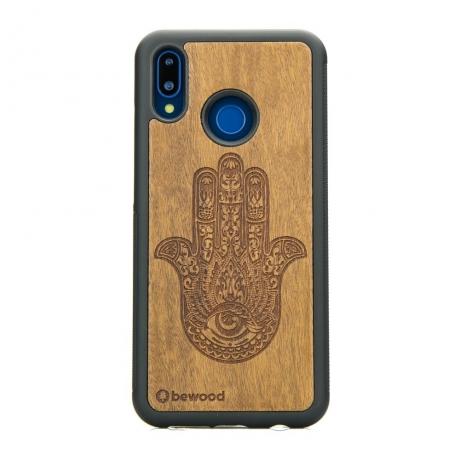 Drewniane Etui Huawei P20 Lite HAMSA IMBUIA