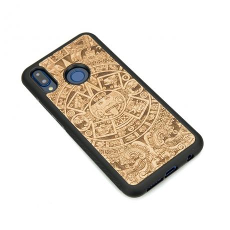 Drewniane Etui Huawei P20 Lite KALENDARZ AZTECKI ANIEGRE