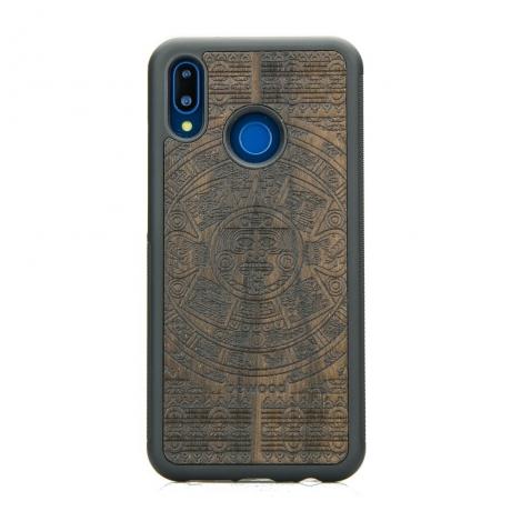 Drewniane Etui Huawei P20 Lite KALENDARZ AZTECKI ZIRICOTE