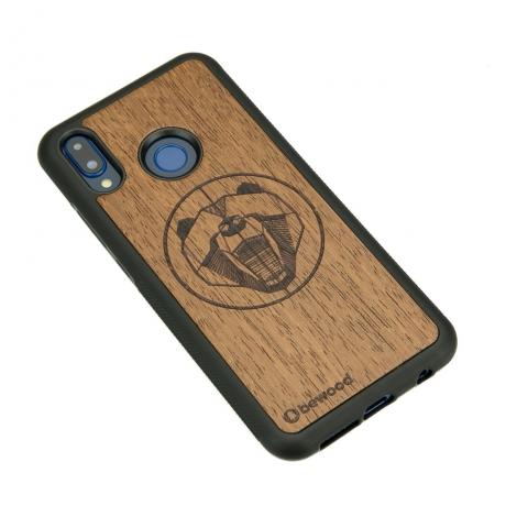 Drewniane Etui Huawei P20 Lite NIEDŹWIEDŹ MERBAU