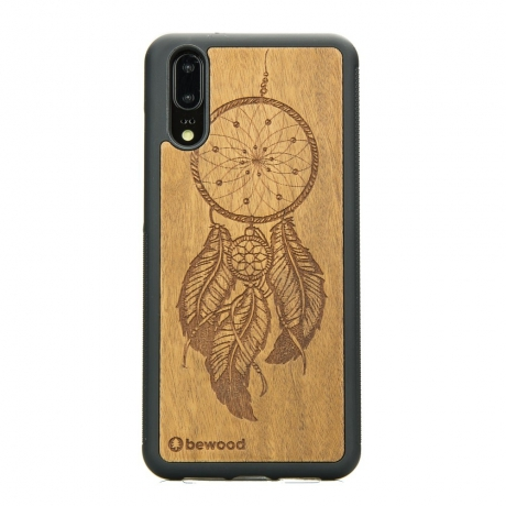 Drewniane Etui Huawei P20 ŁAPACZ SNÓW IMBUIA