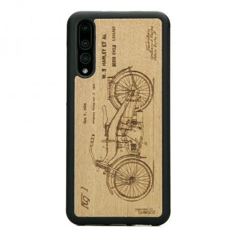 Drewniane Etui Huawei P20 Pro HARLEY PATENT ANIEGRE