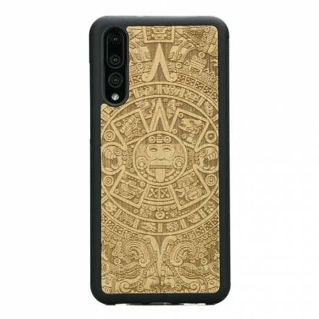Drewniane Etui Huawei P20 Pro KALENDARZ AZTECKI ANIEGRE