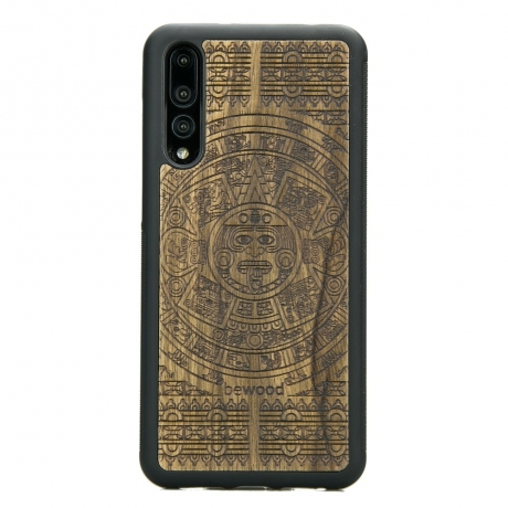 Drewniane Etui Huawei P20 Pro KALENDARZ AZTECKI LIMBA