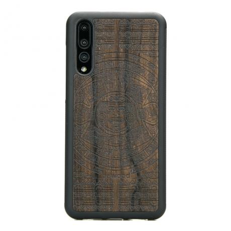 Drewniane Etui Huawei P20 Pro KALENDARZ AZTECKI ZIRICOTE