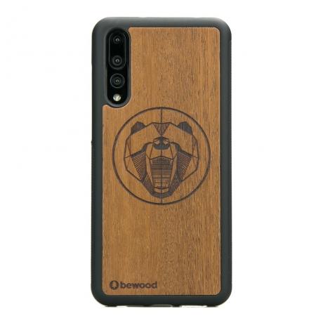 Drewniane Etui Huawei P20 Pro NIEDŹWIEDŹ MERBAU