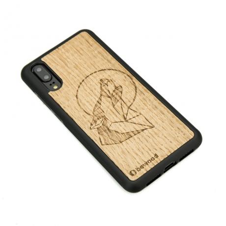 Drewniane Etui Huawei P20 WILK DĄB