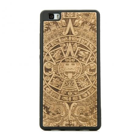 Drewniane Etui Huawei P8 Lite KALENDARZ AZTECKI ANIEGRE