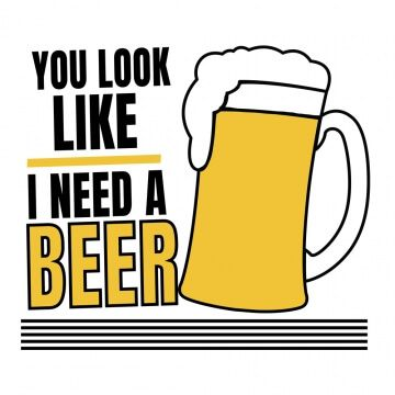 Kubek z zabawnym nadrukiem dla piwosza