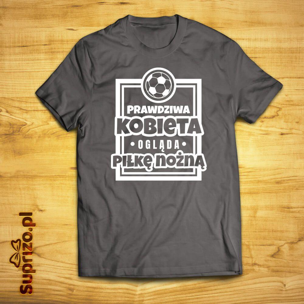 Koszulka dla fanki piłki nożnej z nadrukiem