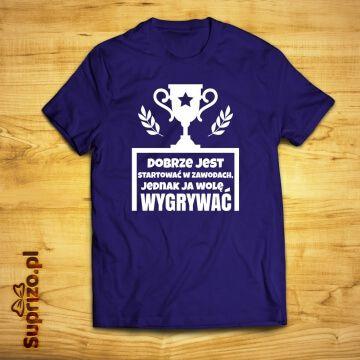 Koszulka dla sportowca z motywującym napisem