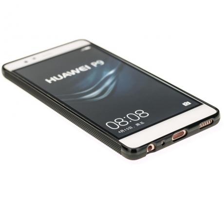 Drewniane Etui Huawei P9 RÓŻA WIATRÓW MERBAU BIELONA