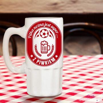 Kufel do piwa dla fana piłki nożnej
