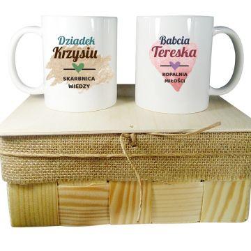 Kubki dla babci i dziadka personalizowane z imionami